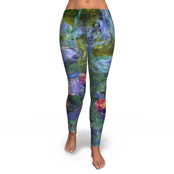 Water Lilies by Monet - Leggings
