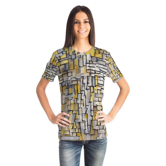 Tableau 2 Composition VII by Mondrian - T-Shirt