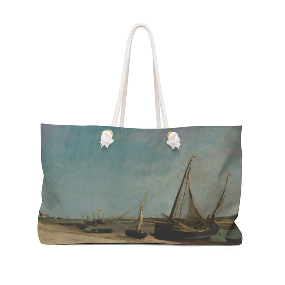 Boats on the Seacoast at Etaples by Daubigny - Weekender Bag