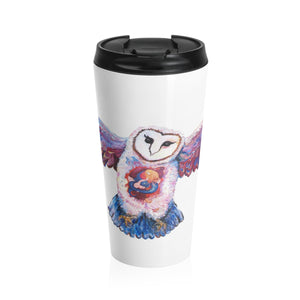 Owl Spirit by Tocher - Stainless Steel Travel Mug