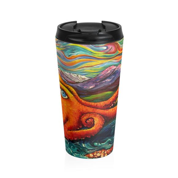 Octopi Port Angeles by Tocher - Stainless Steel Travel Mug