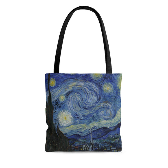 Starry Night by van Gogh - Lined Tote Bag