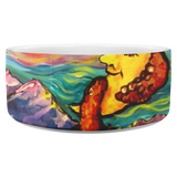 Octopi Port Angeles by Tocher (close up 2) - Dog Bowl