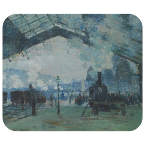 Arrival of the Normandy Train by Monet - Mousepad