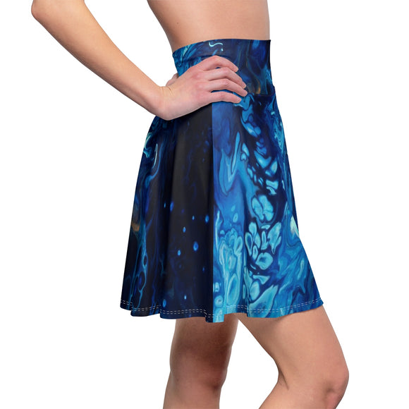 Introspection by DeScala - Women's Skater Skirt