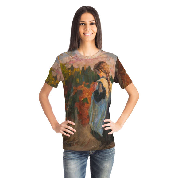 Girl in a Field by Rubio - Unisex T-shirt