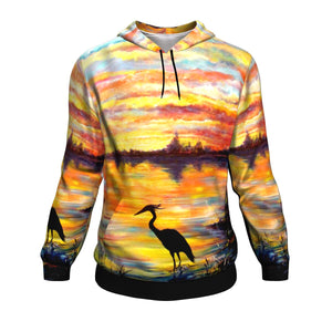 Heron Sunset by Tocher - Hoodie