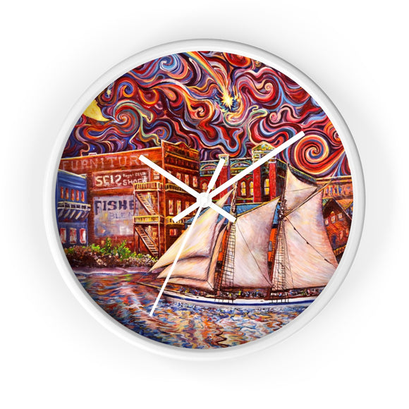 Pt Townsend State of Mind by Tocher - Wall clock