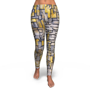 Tableau 2 Composition VII by Mondrian - Leggings