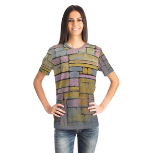 Tableau No. 2 Composition No. 5 by Mondrian - Unisex T-shirt
