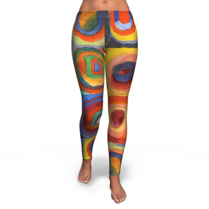 Squares with Concentric Circles by Kandinsky - Leggings
