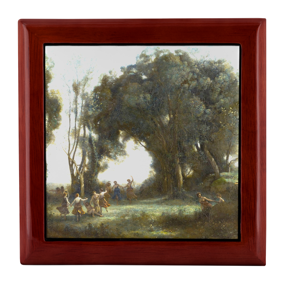 A Morning: the Dance of the Nymphs by Corot - Jewelry Box