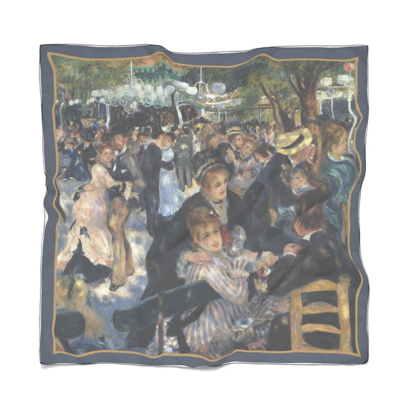 Dance at le Moulin de la Galette by Renoir - Poly Scarves in 2 sizes