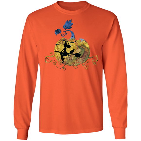 A Very van Gogh Halloween LS Ultra Cotton T-Shirt in Fun Colors