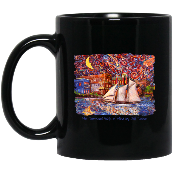 Port Townsend State of Mind by Tocher - Black Mugs