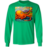 Octopi Port Angeles by Tocher - LS Ultra Cotton T-Shirt