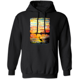 Heron Sunset by Tocher - Pullover Hoodie