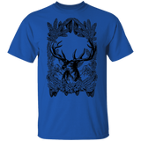 Vintage Deer Line Art T-Shirt
