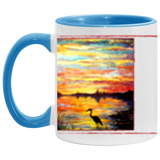Heron Sunset by Tocher Accent Mug