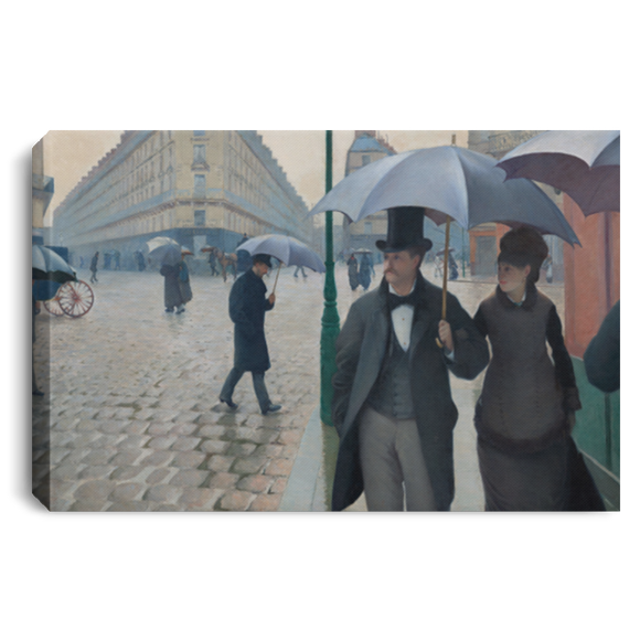 Paris Street, Rainy Day by Caillebotte - Wall Art Canvases