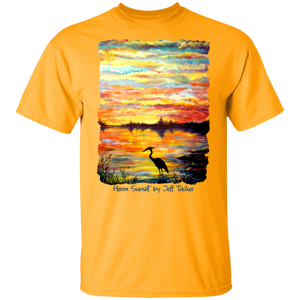 Heron Sunset by Tocher - T-Shirt
