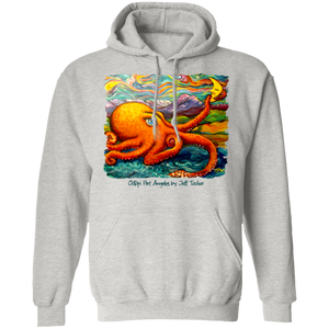 Octopi Port Angeles by Tocher - Pullover Hoodie