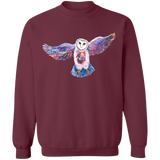 Owl Spirit by Tocher - Crewneck Pullover Sweatshirt