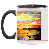 Heron Sunset by Tocher - Accent Mug