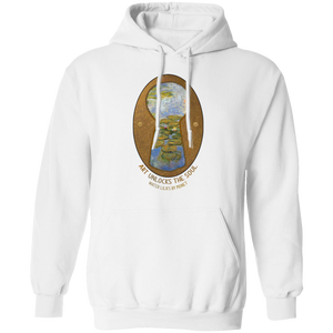 Water Lilies by Monet - Through the Keyhole Series Pullover Hoodie