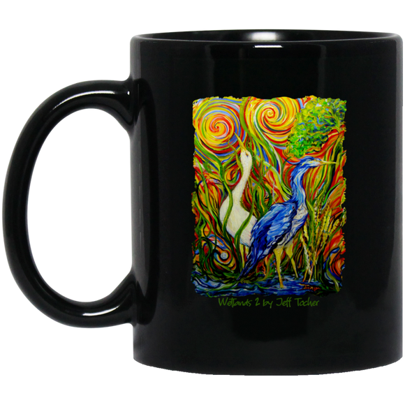 Wetlands 2 by Tocher - Black Mugs