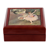 Dancer Taking a Bow by Degas - Jewelry Box