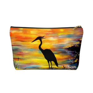 Heron Sunset by Tocher - Accessory Pouches with T-bottom