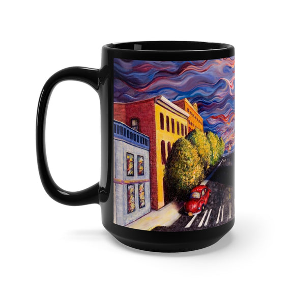 Otter Road (closeup) by Tocher - Black Mug 15oz