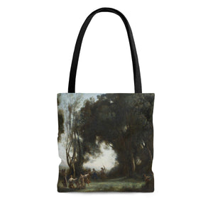 Morning: The Dance of the Nymphs by Corot - Cloth Tote Bag