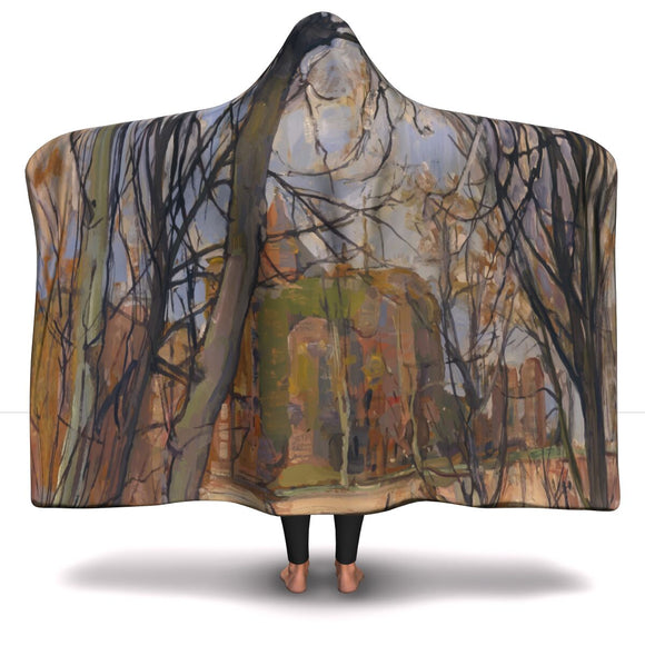 Spring Sun: Castle Ruin by Mondrian - Hooded Blanket