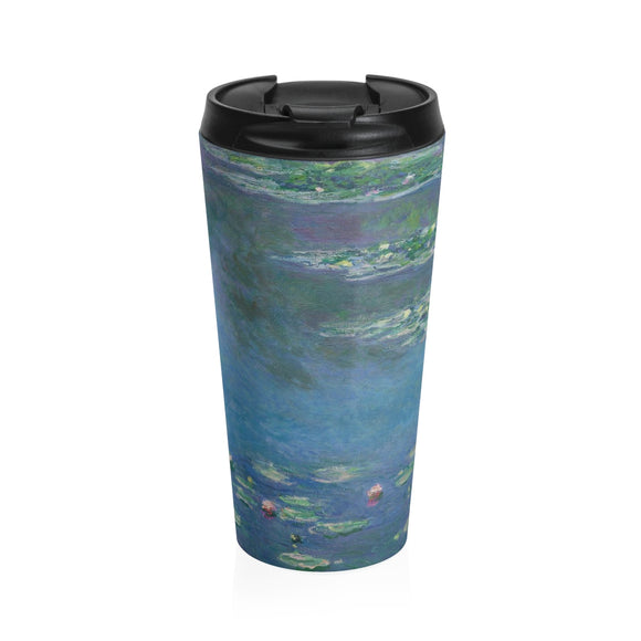 Water Lilies 1906 by Monet - Stainless Steel Travel Mug