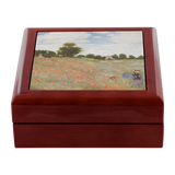 Red Poppy Field by Monet - JewelryBox