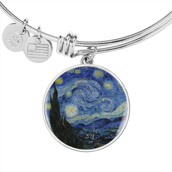 Starry Night by van Gogh - Bangle Bracelet