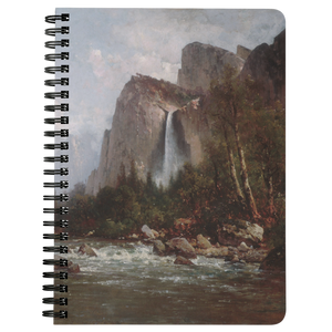 View of Yosemite Valley by Hill - Spiralbound Notebook