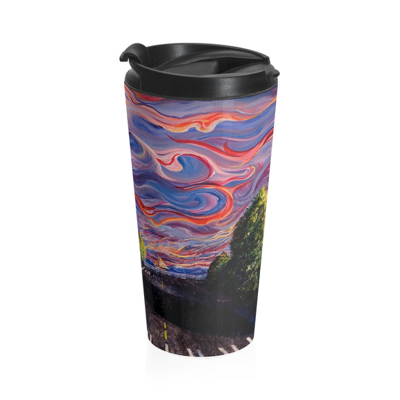 Otter Road by Tocher (close up 2) - Stainless Steel Travel Mug