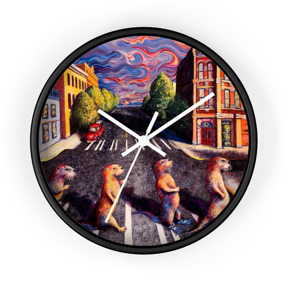 Otter Road by Tocher Wall clock