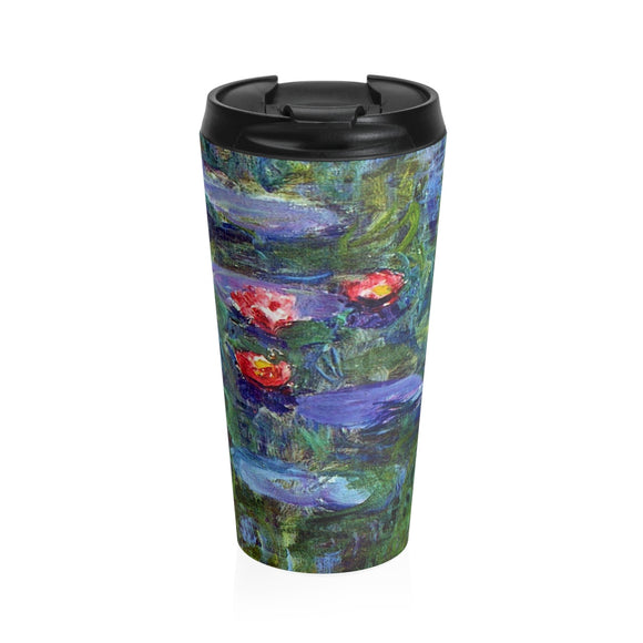 Water Lilies by Monet - Stainless Steel Travel Mug