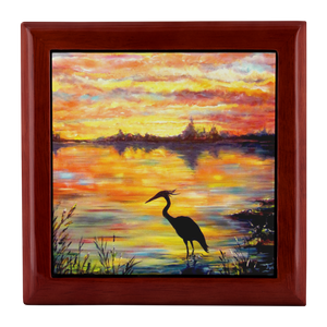 Heron Sunset by Tocher - Jewelry Box