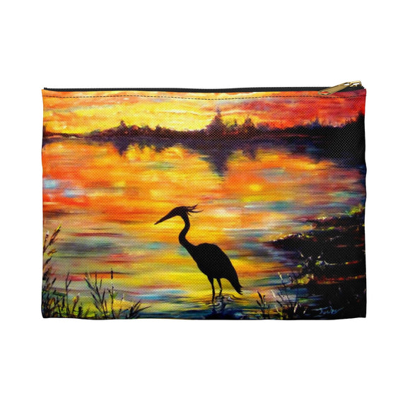 Heron Sunset by Tocher - Accessory Pouches