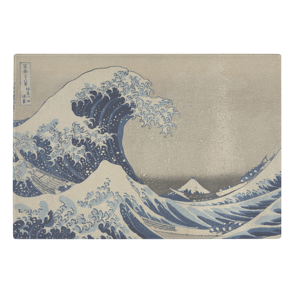 The Great Wave by Hokusai - Glass Cutting Board