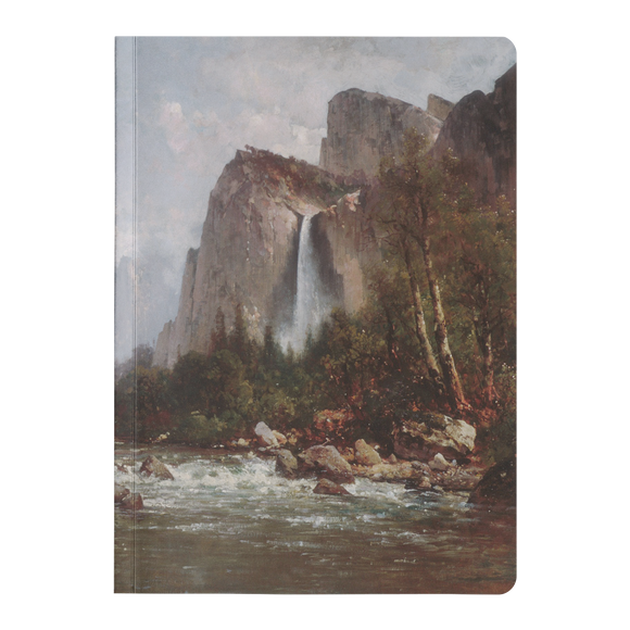 View of Yosemite Valley by Hill - Paperback Journal