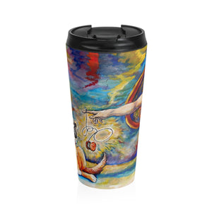 God Explains by Tocher - Stainless Steel Travel Mug