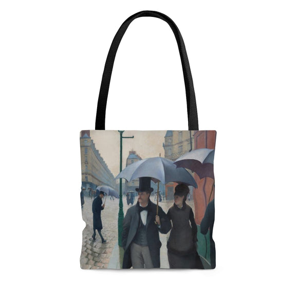 Paris Street, Rainy Day by Caillebotte - Cloth Tote Bag in 3 sizes