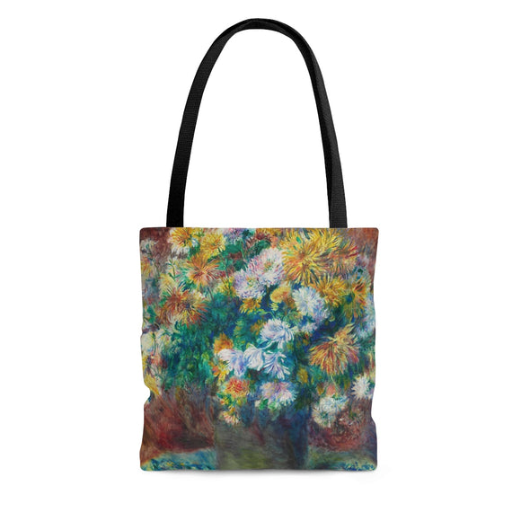 Chrysanthemums by Renoir - Cloth Tote Bag