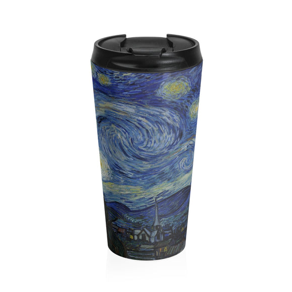 Starry Night by van Gogh - Stainless Steel Travel Mug